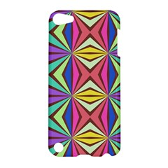Connected Shapes In Retro Colors  			apple Ipod Touch 5 Hardshell Case by LalyLauraFLM