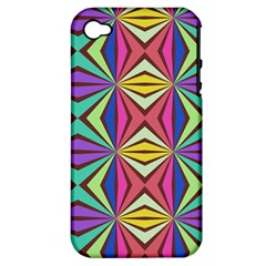 Connected Shapes In Retro Colors  			apple Iphone 4/4s Hardshell Case (pc+silicone) by LalyLauraFLM