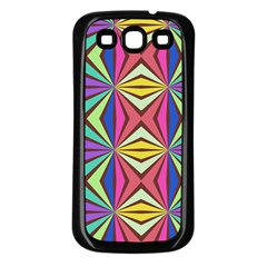 Connected Shapes In Retro Colors  			samsung Galaxy S3 Back Case (black) by LalyLauraFLM