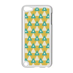 White Blue Triangles Pattern 			apple Ipod Touch 5 Case (white) by LalyLauraFLM