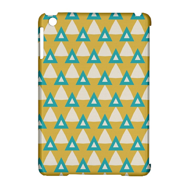 White blue triangles pattern 			Apple iPad Mini Hardshell Case (Compatible with Smart Cover)