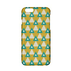 White Blue Triangles Pattern 			apple Iphone 6/6s Hardshell Case by LalyLauraFLM
