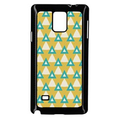 White Blue Triangles Pattern 			samsung Galaxy Note 4 Case (black) by LalyLauraFLM