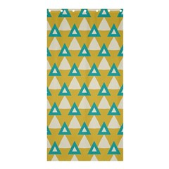 White Blue Triangles Pattern 	shower Curtain 36  X 72  by LalyLauraFLM
