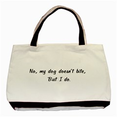 No, My Dog Doesn t Bite Basic Tote Bag  by ButThePitBull