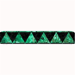 Triangle3 Black Marble & Green Marble Small Bar Mat by trendistuff
