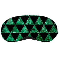 Triangle3 Black Marble & Green Marble Sleeping Mask by trendistuff