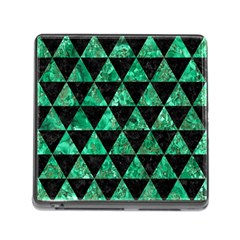 Triangle3 Black Marble & Green Marble Memory Card Reader (square) by trendistuff