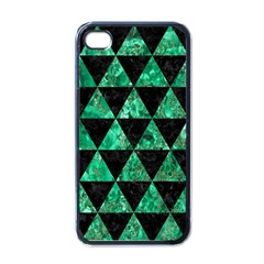Triangle3 Black Marble & Green Marble Apple Iphone 4 Case (black) by trendistuff