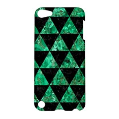 Triangle3 Black Marble & Green Marble Apple Ipod Touch 5 Hardshell Case by trendistuff