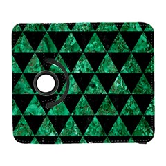 Triangle3 Black Marble & Green Marble Samsung Galaxy S  Iii Flip 360 Case by trendistuff
