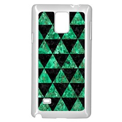 Triangle3 Black Marble & Green Marble Samsung Galaxy Note 4 Case (white) by trendistuff
