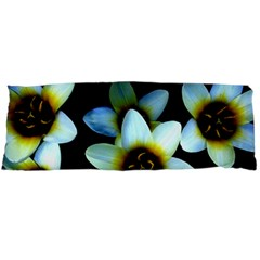 Light Blue Flowers On A Black Background Body Pillow Cases (dakimakura)  by Costasonlineshop