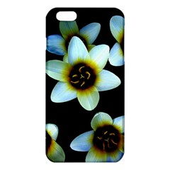 Light Blue Flowers On A Black Background Iphone 6 Plus/6s Plus Tpu Case by Costasonlineshop