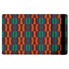 Green Orange Shapes Pattern 			apple Ipad 2 Flip Case by LalyLauraFLM