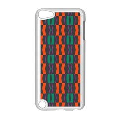 Green Orange Shapes Pattern 			apple Ipod Touch 5 Case (white) by LalyLauraFLM