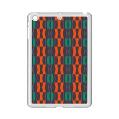 Green Orange Shapes Pattern 			apple Ipad Mini 2 Case (white) by LalyLauraFLM