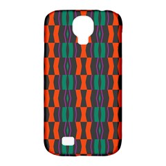 Green Orange Shapes Pattern 			samsung Galaxy S4 Classic Hardshell Case (pc+silicone) by LalyLauraFLM
