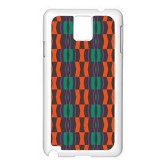 Green Orange Shapes Pattern 			samsung Galaxy Note 3 N9005 Case (white) by LalyLauraFLM