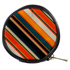 Diagonal Stripes In Retro Colors Mini Makeup Bag
