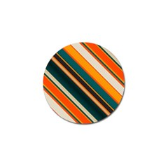 Diagonal Stripes In Retro Colors 			golf Ball Marker (4 Pack) by LalyLauraFLM