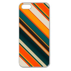 Diagonal Stripes In Retro Colors 			apple Seamless Iphone 5 Case (clear) by LalyLauraFLM