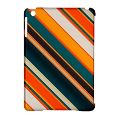 Diagonal Stripes In Retro Colors 			apple Ipad Mini Hardshell Case (compatible With Smart Cover) by LalyLauraFLM
