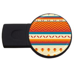 Tribal Shapes  			usb Flash Drive Round (2 Gb) by LalyLauraFLM