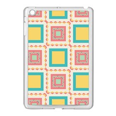 Pastel Squares Pattern 			apple Ipad Mini Case (white) by LalyLauraFLM
