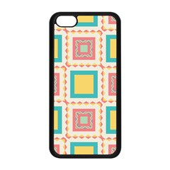 Pastel Squares Pattern 			apple Iphone 5c Seamless Case (black) by LalyLauraFLM
