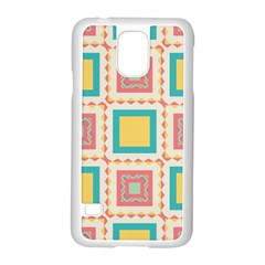Pastel Squares Pattern 			samsung Galaxy S5 Case (white) by LalyLauraFLM