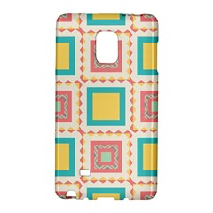 Pastel Squares Pattern 			samsung Galaxy Note Edge Hardshell Case by LalyLauraFLM