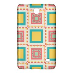 Pastel Squares Pattern 			samsung Galaxy Tab 4 (7 ) Hardshell Case by LalyLauraFLM