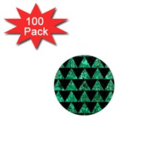 Triangle2 Black Marble & Green Marble 1  Mini Magnet (100 Pack)  by trendistuff