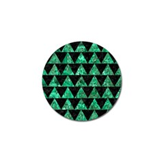 Triangle2 Black Marble & Green Marble Golf Ball Marker (10 Pack)