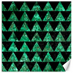 Triangle2 Black Marble & Green Marble Canvas 12  X 12  by trendistuff