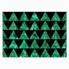 Triangle2 Black Marble & Green Marble Large Glasses Cloth (2 Sides) by trendistuff