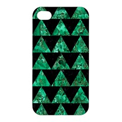 Triangle2 Black Marble & Green Marble Apple Iphone 4/4s Premium Hardshell Case by trendistuff