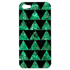 Triangle2 Black Marble & Green Marble Apple Iphone 5 Hardshell Case by trendistuff