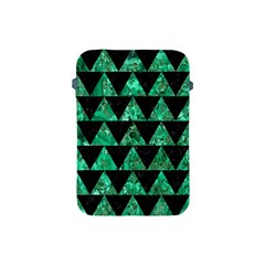 Triangle2 Black Marble & Green Marble Apple Ipad Mini Protective Soft Case by trendistuff