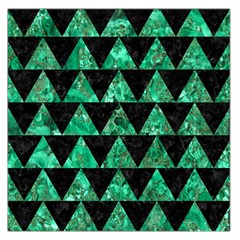 Triangle2 Black Marble & Green Marble Large Satin Scarf (square)
