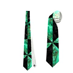 Triangle1 Black Marble & Green Marble Necktie (two Side) by trendistuff