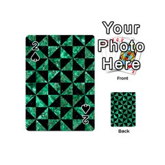 Triangle1 Black Marble & Green Marble Playing Cards 54 (mini) by trendistuff