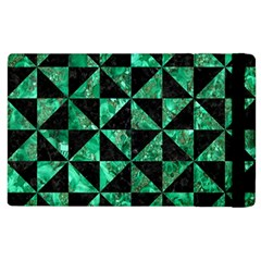 Triangle1 Black Marble & Green Marble Apple Ipad 3/4 Flip Case by trendistuff
