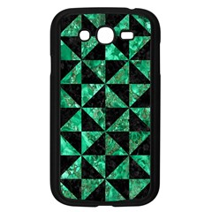Triangle1 Black Marble & Green Marble Samsung Galaxy Grand Duos I9082 Case (black) by trendistuff