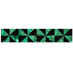 Triangle1 Black Marble & Green Marble Flano Scarf (large)