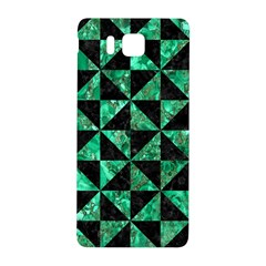 Triangle1 Black Marble & Green Marble Samsung Galaxy Alpha Hardshell Back Case by trendistuff