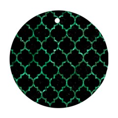 Tile1 Black Marble & Green Marble (r) Ornament (round) by trendistuff