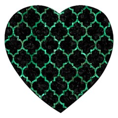 Tile1 Black Marble & Green Marble (r) Jigsaw Puzzle (heart) by trendistuff