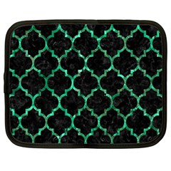 Tile1 Black Marble & Green Marble (r) Netbook Case (xl) by trendistuff